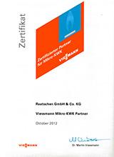 Viessmann Mikro-BHKW Zertifikat