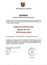 Raatschen Heizungen Zertifikat