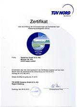TÜV Nord Heizung Zertifikat