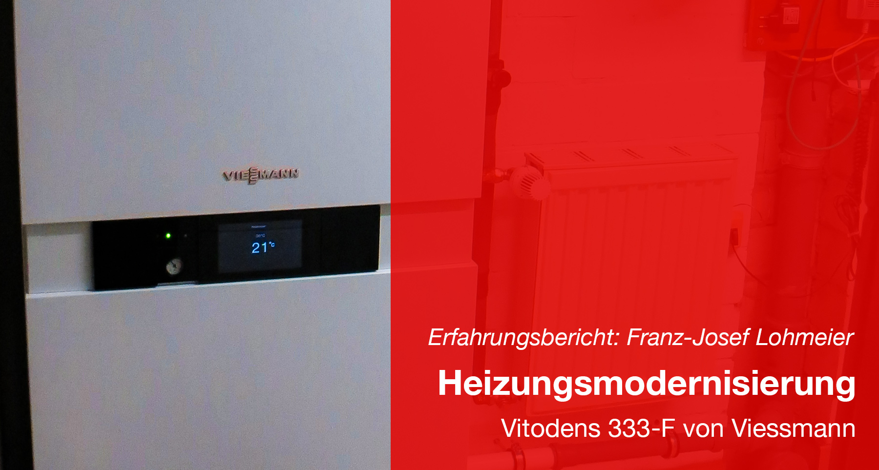 Modernisierung der Heizung - Vitodens 333-F von Viessmann