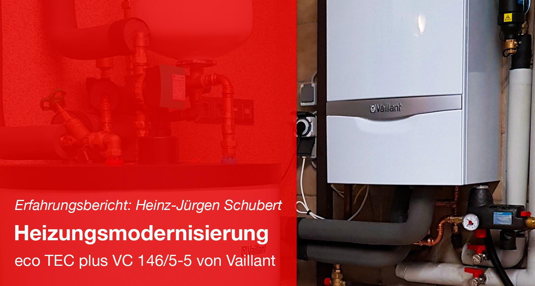 Modernisierung der Heizung - eco TEC plus VC 146/5-5 von Vaillant