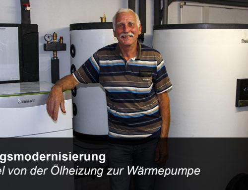 Wechsel von einer Ölheizung auf eine Sole-Wasser-Wärmepumpe