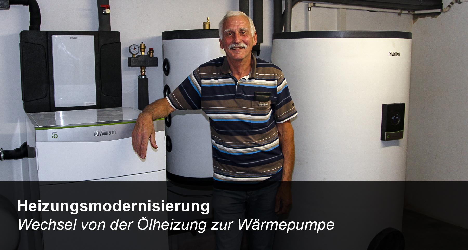 Modernisierung der Heizung - Wechsel von einer Ölheizung auf eine Sole-Wasser-Wärmepumpe