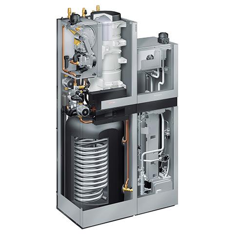 Querschnitt einer Brennstoffzelle zum Heizen und zur Stromerzeugung - Raatschen Heizung