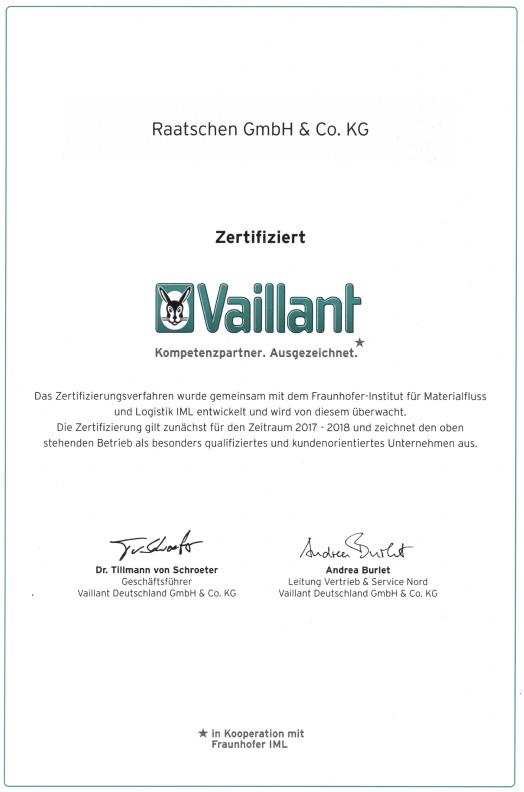 Partner Vaillant Heizungen